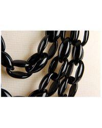 kate spade new york - Black Highline Triple Row Necklace - Lyst