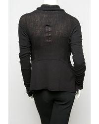 Rick Owens | Black Mesh Knit Cardigan | Lyst
