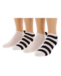 kate spade new york - Natural Jubilee Stripe Peddie Sock (4 Pack) - Lyst
