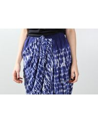 Thakoon Addition - Blue Drape Front Skirt Tie Dye Navy - Lyst
