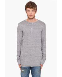 Balmain | Gray Henley Jersey T-shirt for Men | Lyst