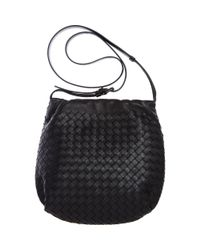 Bottega Veneta | Black Small Intrec Messenger | Lyst
