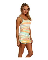 Juicy Couture Multicolor Vintage Stripe Terry Keyhole Romper