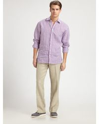 Saks Fifth Avenue - Natural Linen Drawstring Pants for Men - Lyst