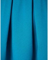 ASOS - Blue Dress With Bell Skirt - Lyst