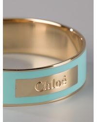Chloé | Blue Holly Enameled Bangle | Lyst