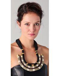 Holst + Lee - Black Plate Necklace - Lyst