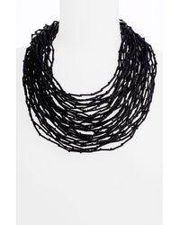 Lafayette 148 New York | Black Multi-strand Necklace | Lyst