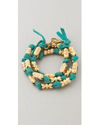 Lulu Frost | Green Bells Beach Wrap Bracelet | Lyst