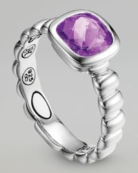 John Hardy | Purple Square Station Ring, Amethyst | Lyst