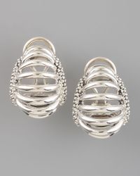 Lagos - Metallic Interlude Clip Earrings - Lyst