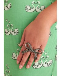 ModCloth | Gray Knot Couture Ring | Lyst