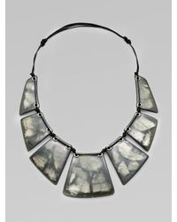 Lafayette 148 New York | Metallic Mixed-media Collar Necklace | Lyst