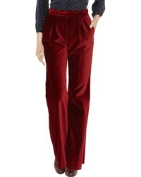 Steven Alan - Red Francis Pleated Dress Pants - Lyst