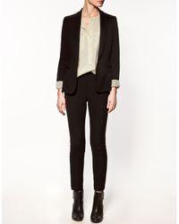 Zara | Black Jersey Blazer | Lyst