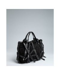 Alexander Wang | Black Suede Kirsten Leather Buckle Detail Satchel | Lyst