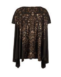 AllSaints - Black Camouflage T-shirt - Lyst