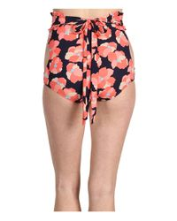 Juicy Couture - Pink Poppy Print Cut Out High Waisted Bikini Pant - Lyst
