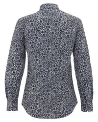Paul Smith | Blue Floral-print Shirt for Men | Lyst