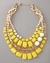 kate spade new york | Yellow Treasure Chest Statement Necklace | Lyst