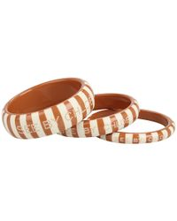 See By Chloé | Brown Striped Resin Bangle Set | Lyst