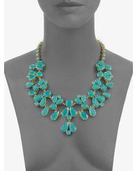kate spade new york - Blue Bib Necklace - Lyst