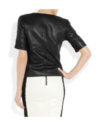 Kelly Bergin | Black Perforated Leather Top | Lyst
