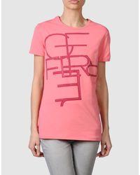 Gianfranco Ferré | Pink Gf Ferre - Short Sleeve T-shirts | Lyst
