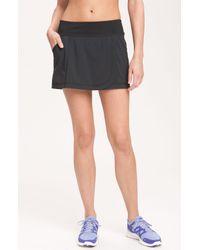 Zella | Black Wrapped Up Running Skirt | Lyst