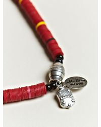 Lanvin - Red Tribal Necklace for Men - Lyst