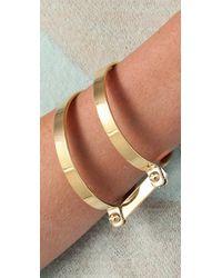 A.L.C. - Metallic Double Bondage Bracelet - Lyst