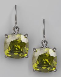 Bottega Veneta - Green Peridot Drop Earrings - Lyst