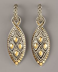John Hardy - Metallic Naga Marquis Drop Earrings - Lyst