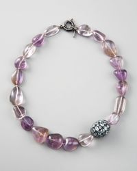 M.c.l  Matthew Campbell Laurenza | Multicolor Topaz & Amethyst Beaded Necklace | Lyst