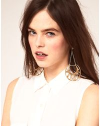 Bing Bang - Metallic Bing Bang Silver and Brass Chandelier Earrings - Lyst