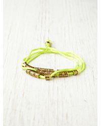 Free People - Green Hallie Neon Wrap Bracelet - Lyst