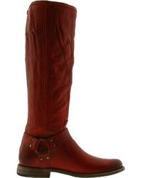 Frye | Brown Womens Phillip Harness Tall Boot | Lyst