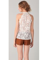 Madison Marcus - White Thrive Lace Top - Lyst