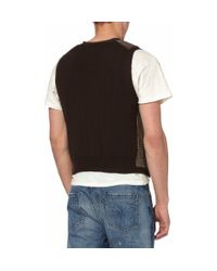 Polo Ralph Lauren | Brown Prince Of Wales Check Knitted Cotton-blend Waistcoat for Men | Lyst