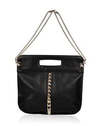 Valentino | Black Studded Bag with Shoulder Strap | Lyst