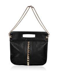 Valentino - Black Studded Bag with Shoulder Strap - Lyst