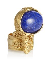 Saint Laurent - Blue Arty Oval Ring - Lyst