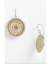 Anna Beck | Metallic Gili Divided Wire Disc Earrings | Lyst