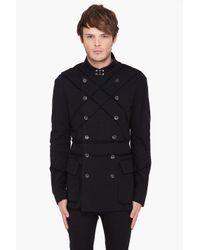 John Galliano | Black Blazer with Striped Detail for Men | Lyst