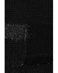 Zadig & Voltaire - Black Reno Deluxe Tinsel-trimmed Sweater - Lyst