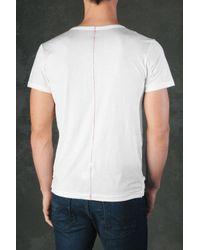 Hudson Jeans | White S/S V-Neck Jersey Tee for Men | Lyst