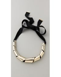 Marc By Marc Jacobs - Metallic Metal Ribbons Big Twist Necklace - Lyst