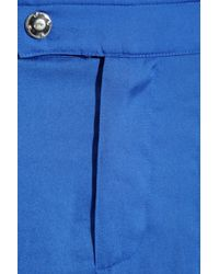 Ralph Lauren Black Label - Blue Bond Crinkled-satin Cargo Pants - Lyst