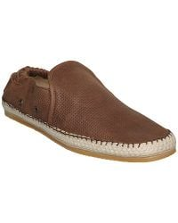John lewis leather driving gloves - Dune Fawkes Leather Espadrilles Brown In Brown For Men Lyst