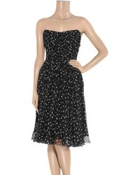 Dolce & Gabbana - Black Star-print Strapless Dress - Lyst